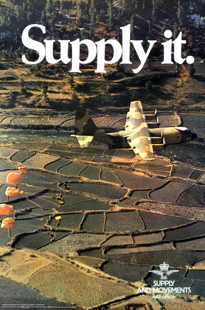 """""""Supply it."""" Royal Air Force poster"""
