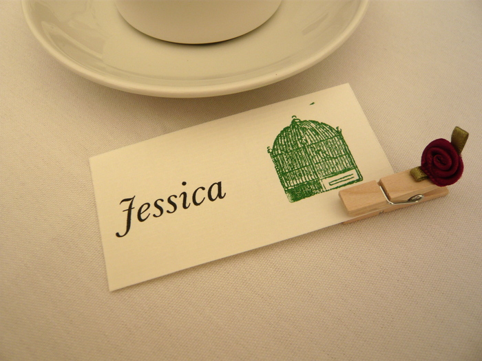 Wedding place cards and menu 1