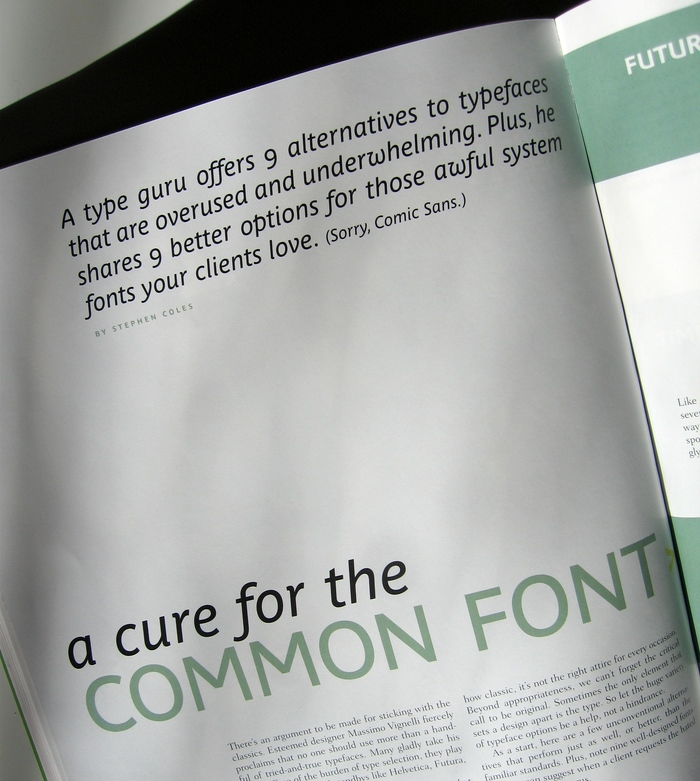 Cure for the Common Font, HOW magazine 2/2009