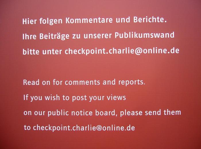 Berlin Wall Timeline Exhibition 1