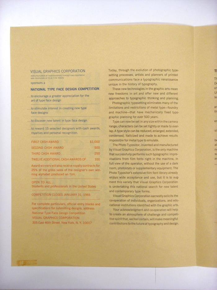 VGC Typeface Design Competition Announcement 2