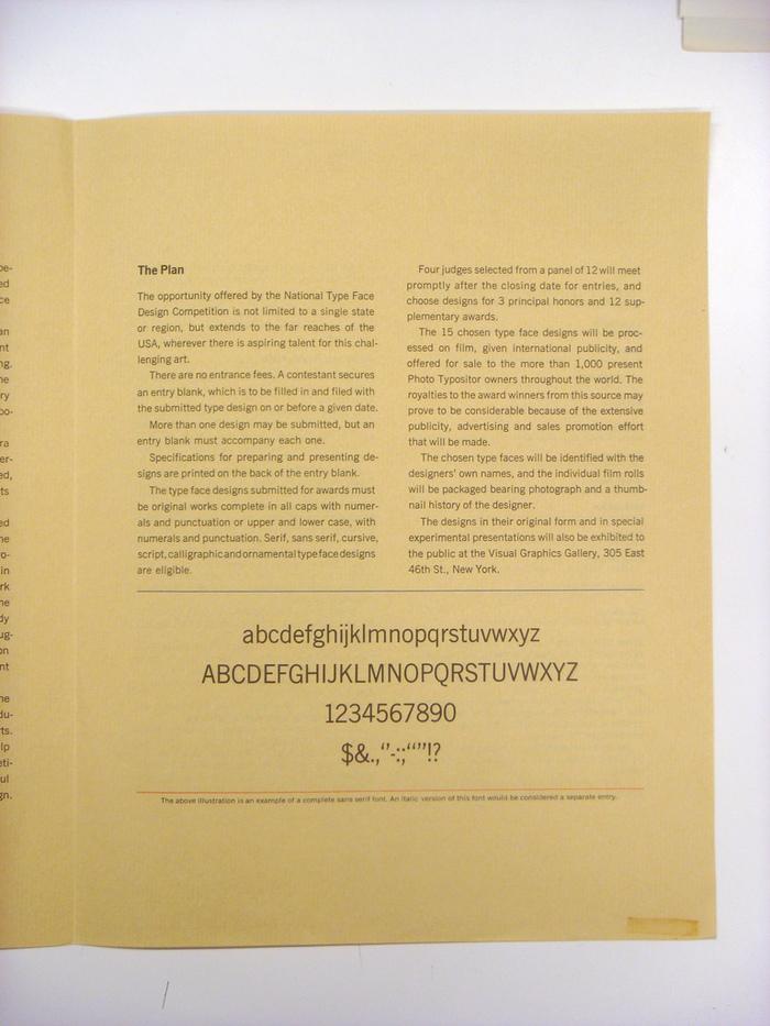 VGC Typeface Design Competition Announcement 3