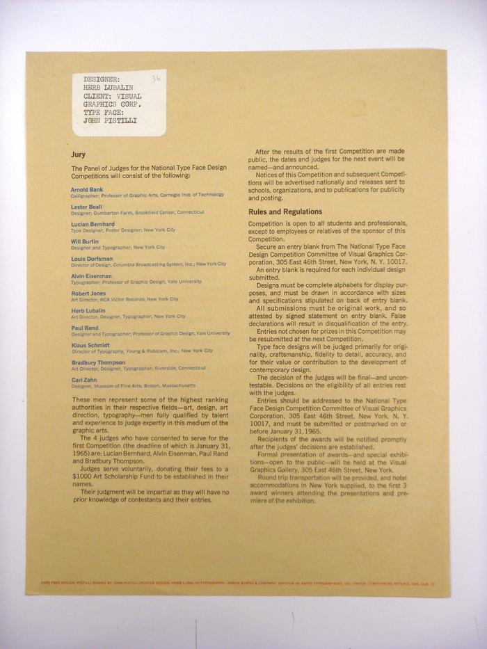 VGC Typeface Design Competition Announcement 4