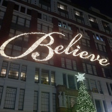 """Believe"" Sign at Macy's in Herald Square"