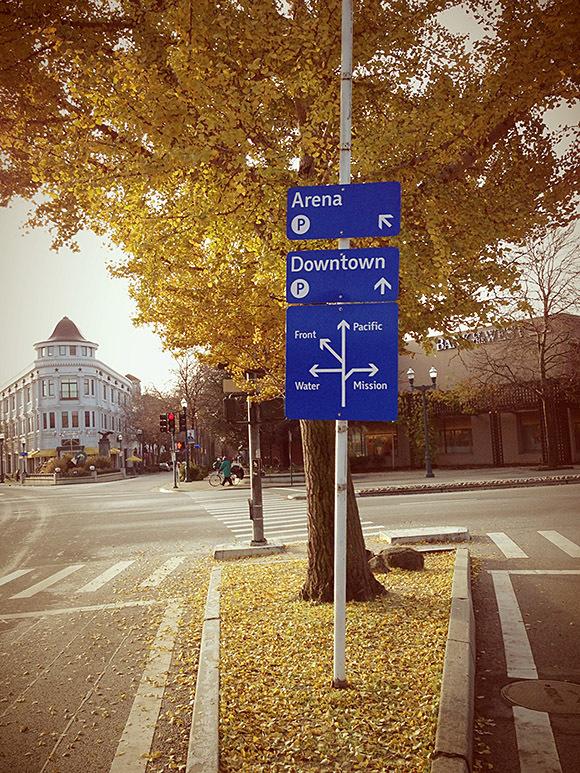 The City of Santa Cruz wayfinding signs 1