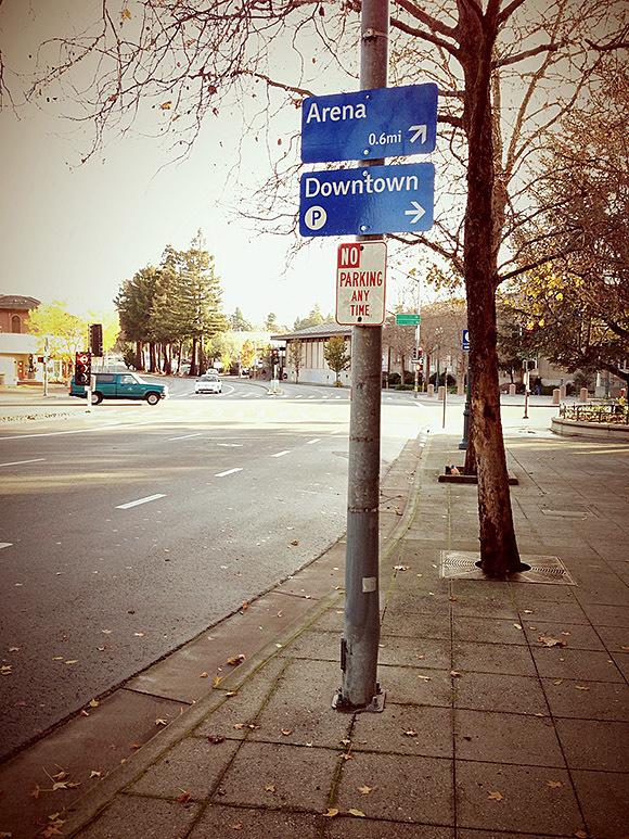 The City of Santa Cruz wayfinding signs 2