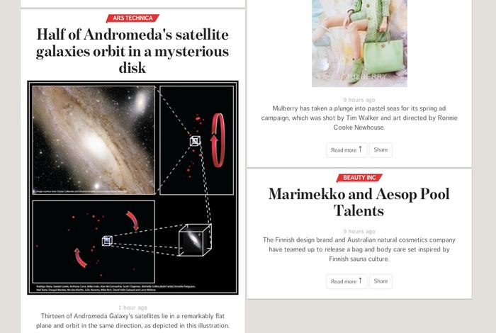 Condé Nast homepage 1