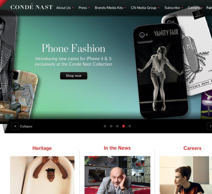 Condé Nast homepage 2