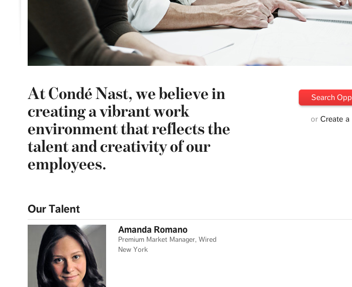 Condé Nast homepage 3