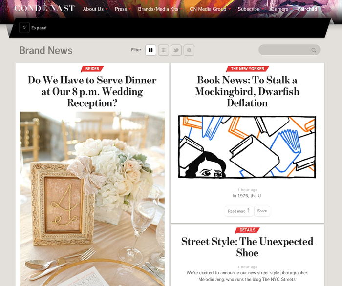 Condé Nast homepage 4