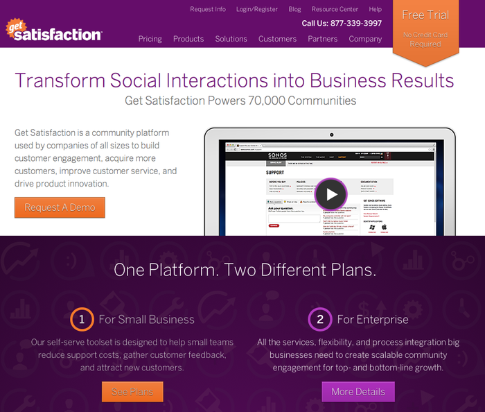Homepage in the current 2012 design.