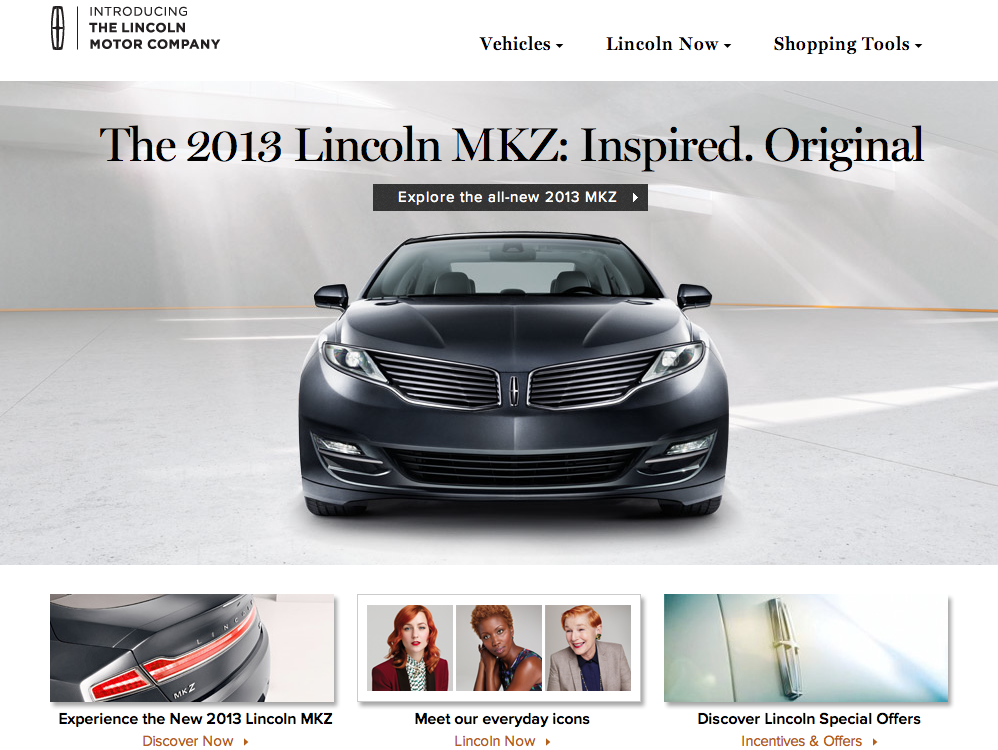 Lincoln Motor Company Fonts In Use