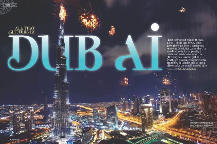 "Sky magazine: ""All That Glitters in Dubai"" 1"