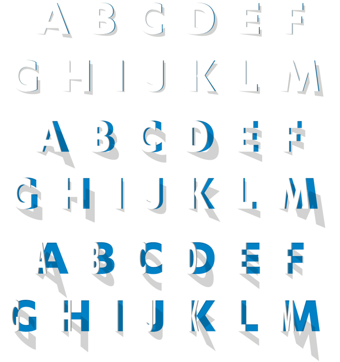 """The custom made typeface we developed opens up dynamically or in steps. Every version adds its own feel to the text."""