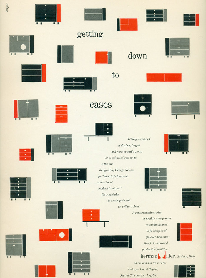 Herman Miller Ad: Getting Down to Cases