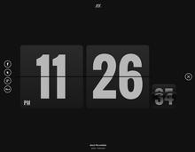 Form Follows Function – flip clock