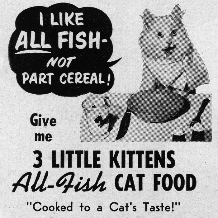 3 Little Kittens Cat Food ad