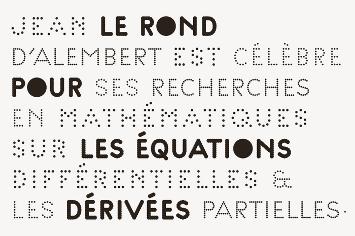 Examples of the Palais typeface designed by Helmo for exclusive use of the Palais de Tokyo.