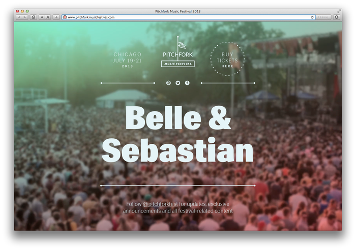 Pitchfork Music Festival, 2013 (Announcement) 1