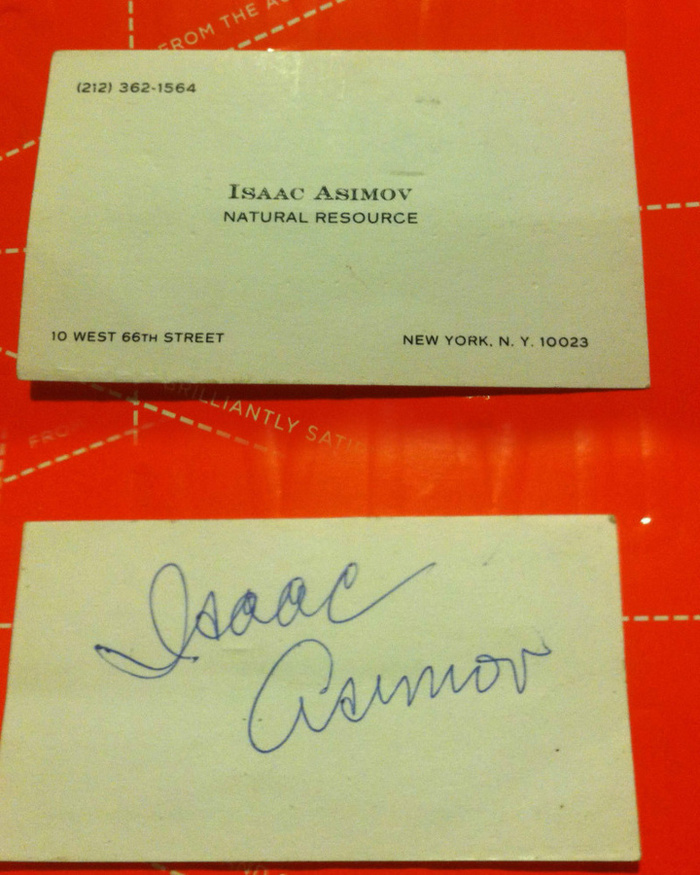 Isaac Asimov's Business Card