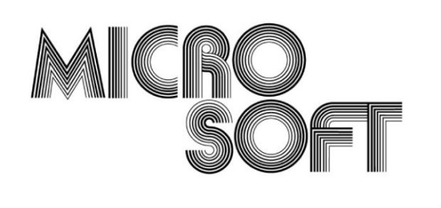 Microsoft logo and Bill Gates' business card, 1975 1