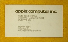 Apple logo (1977) & Steve Jobs business card (1979)