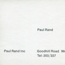 Paul Rand's Business Card