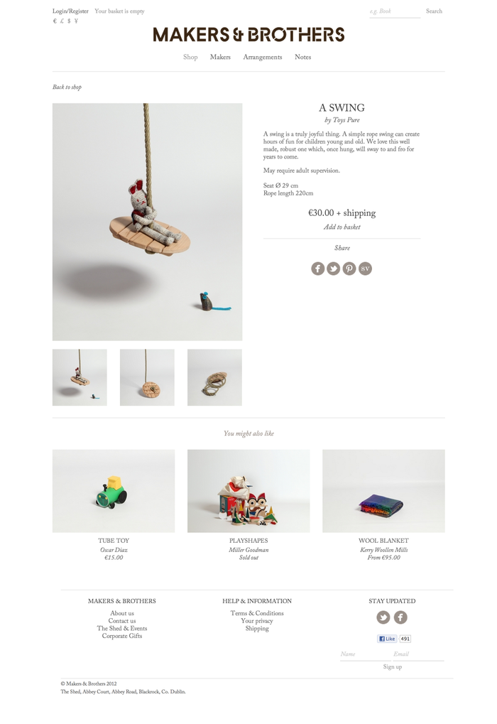 Product page.