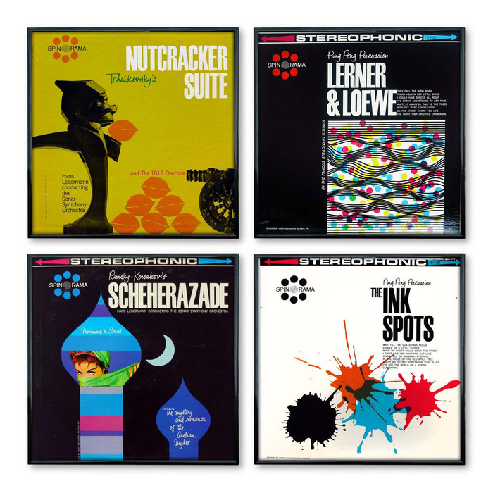 Zelenko covers for Spin-O-Rama Records, c.1959–1966