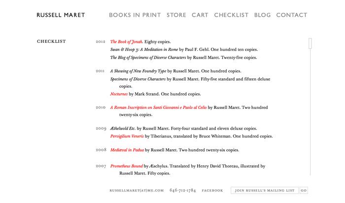 Russell Maret Website 4