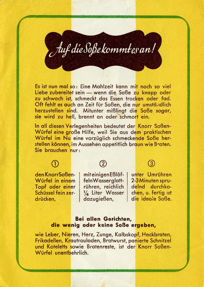 Knorr Soßen-Würfel 6