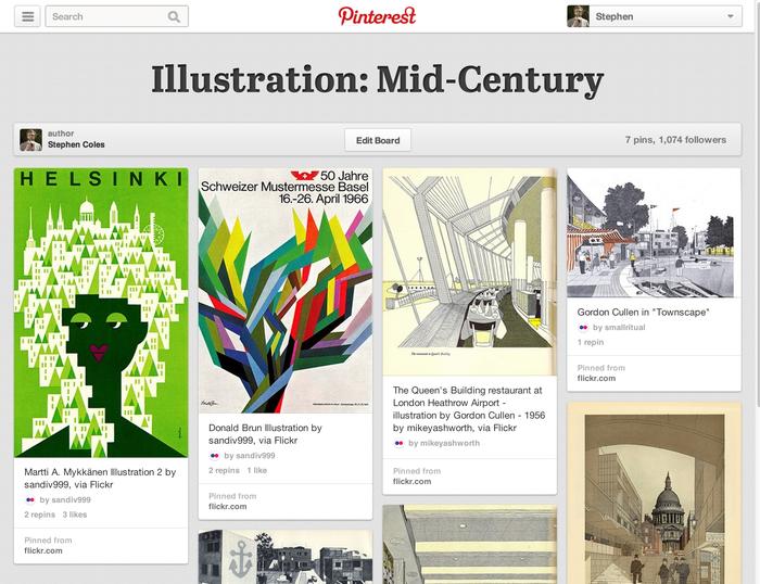 Pinterest.com (2013 redesign) 1
