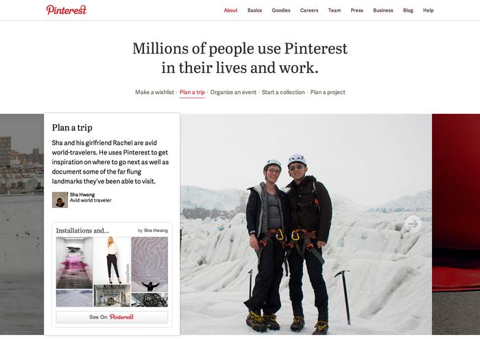 Pinterest.com (2013 redesign) 5