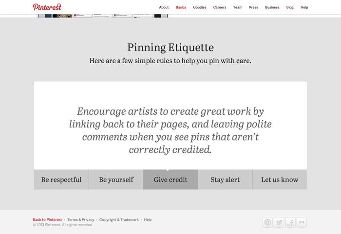Pinterest.com (2013 redesign) 7