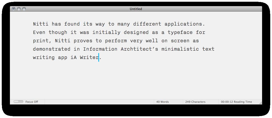 iA Writer app · Gallery · Font Bureau