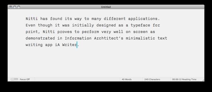 iA Writer app 1