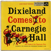 Stan Rubin &amp; his Tigertown Five – <cite>Dixieland Comes To Carnegie Hall </cite>album art