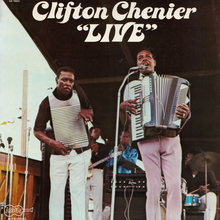 "Clifton Chenier – <cite>""Live""</cite> album art"