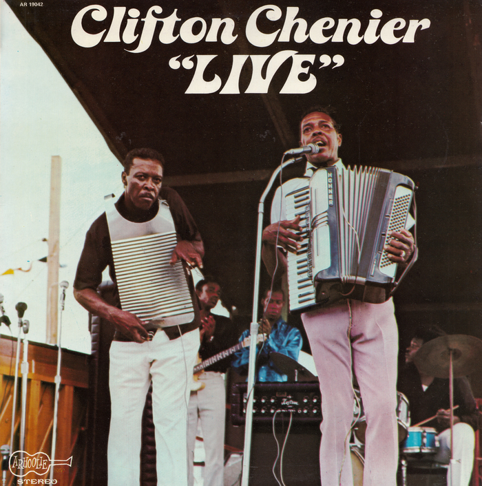 "Clifton Chenier – ""Live"" album art"