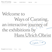 Hans Ulrich Obrist: Ways of Curating website