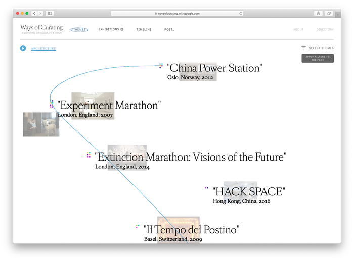 Hans Ulrich Obrist: Ways of Curating website 4