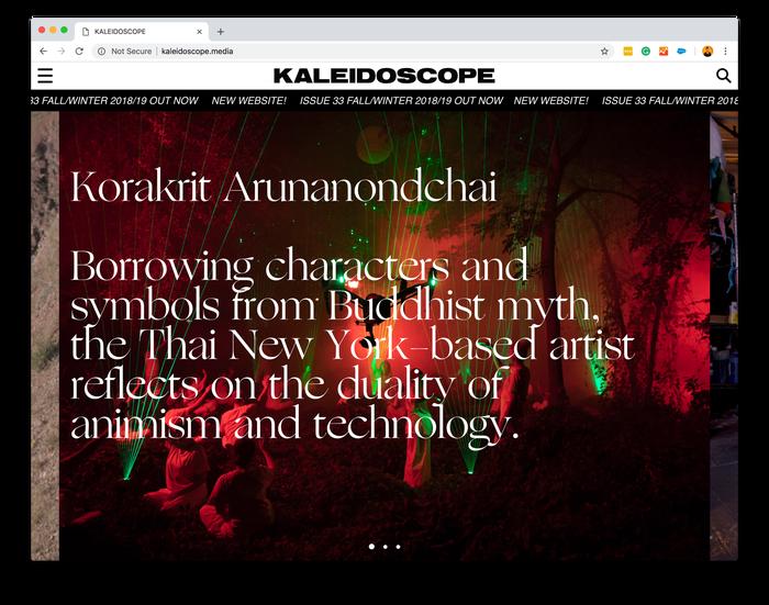 Kaleidoscope magazine, issue #33 (fall/winter 18/19) 2