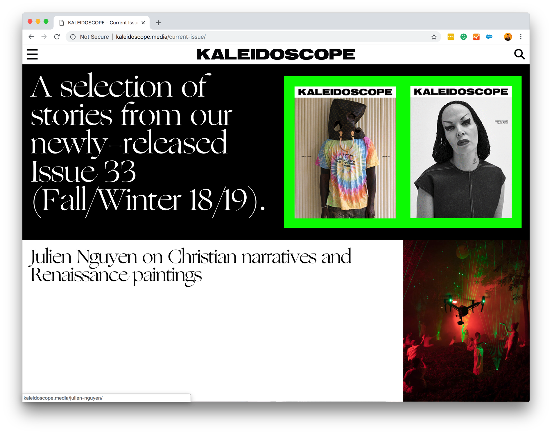 Kaleidoscope Magazine Issue 33 Fall Winter 18 19 Fonts In Use