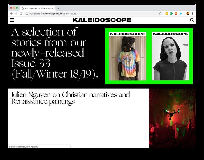 Kaleidoscope magazine, issue #33 (fall/winter 18/19) 3