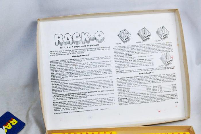 Rack-o card game (1975) 4