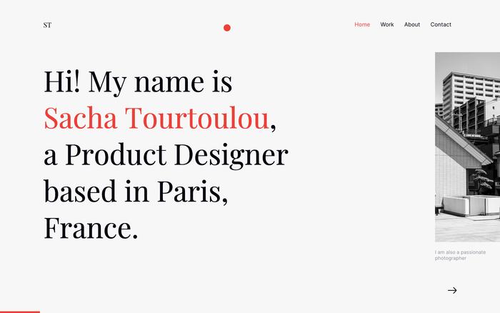 Sacha Tourtoulou portfolio 1