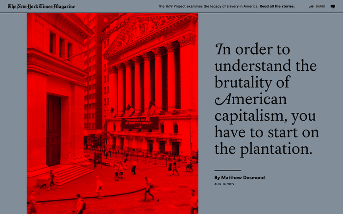 The New York Times Magazine, The 1619 Project issue 2019, online edition by The New York Times 6