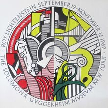Roy Lichtenstein at the Guggenheim, 1969