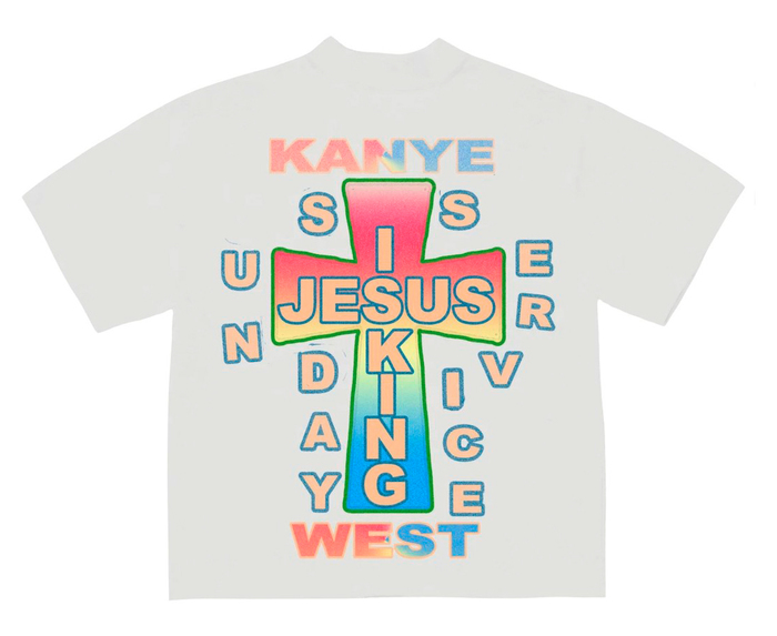 Kanye West's Jesus Is King album art, movie poster and merchandise 12