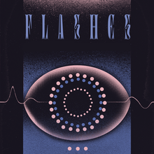 """Flashes"" poster for AïOLI Gdańsk"